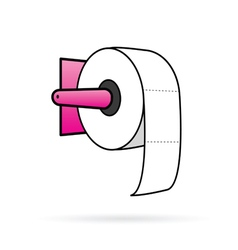 Toilet paper in colorful vector