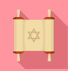 torah papyrus icon flat style vector image