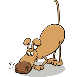 tracking dog cartoon vector image