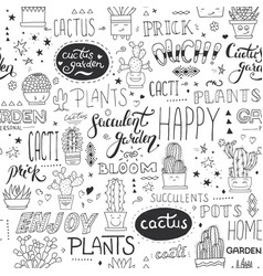 typographical seamless pattern with vector image