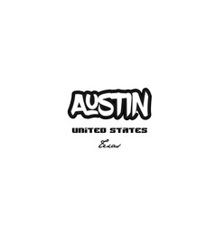 United states austin texas city graffitti font vector