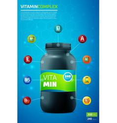 Vitamin complex template vector