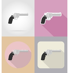 Weapon flat icons 16 vector