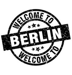 Welcome to berlin black stamp vector