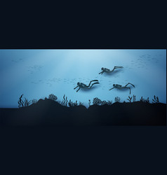 wildlife under sea vector image