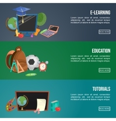 Education Banners Set vector image