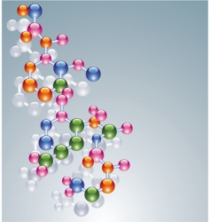 molecules vector image vector image
