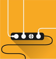 power outlet icon in minimal style vector image vector image