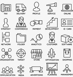 Set of seo and internet service icons - part 6 vector image