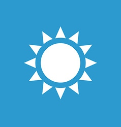 sun icon white on the blue background vector image vector image