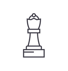 chess queen line icon sign vector image