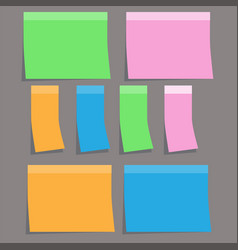 coloful sticky paper note on gray background vector image