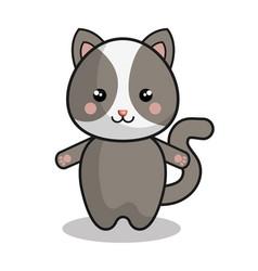 cute chipmunk kawaii style vector image vector image