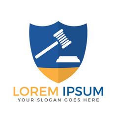 law shield logo design vector image
