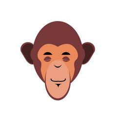 Monkey sleeping emoji marmoset asleep emotion vector