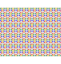 Pattern of different figures vector