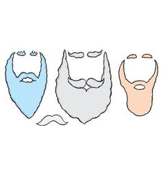 Santa mustache and beards vector