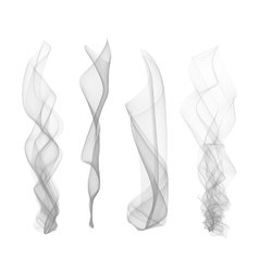 set of smoke effect smooth flame background vector image