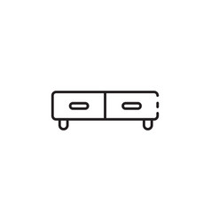 thin color small couch icon vector image vector image