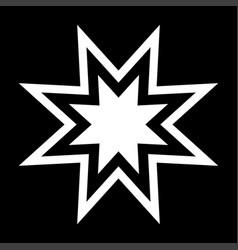 trendy retro star the white color icon vector image vector image
