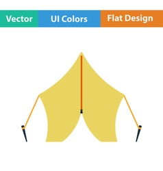 Flat design icon of touristic tent vector image