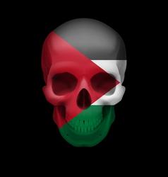 Palestinian flag skull vector image vector image