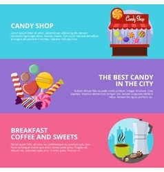 Sweet Candy Banners vector image vector image