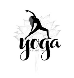 Yoga studio logo vector