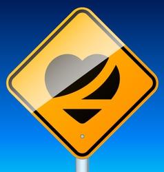 Belt up road sign vector image vector image
