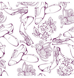 dance line pattern ballroom dancing vector image