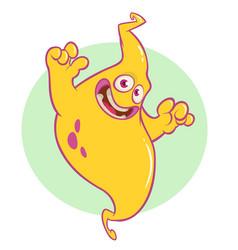 halloween cartoon ghost character vector image vector image