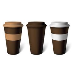 mockup brown coffee cup vector image