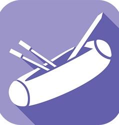 Pencil Box Icon vector image vector image