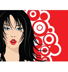 sexy female face vector image vector image
