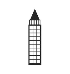 silhouette monochrome of building skyscraper with vector image