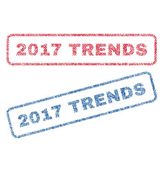 2017 trends textile stamps vector