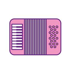 accordion musical instrument icon vector image