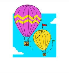 Air balloon vector