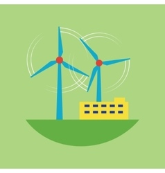 Alternative energy source wind station vector image