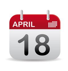 april calendar stand up vector image