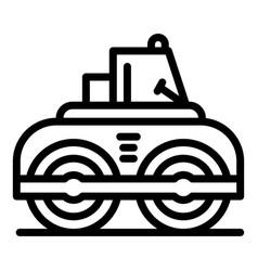 Asphalt road roller icon outline style vector