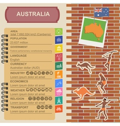 Australia infographics statistical data sights vector image