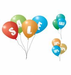 Balloon sale vector