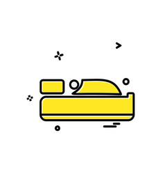 bed icon design vector image