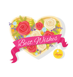 Best wishes for you poster vector
