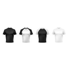 black and white t-shirt mockup black polo men vector image