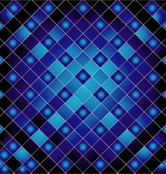 Blue metal grid background vector image