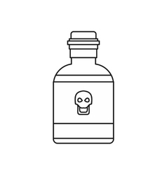 Bottle of poison icon outline style vector image