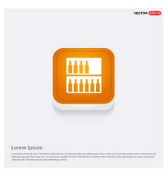 Bottles on bar counter icon vector