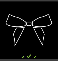 bow it is white icon vector image